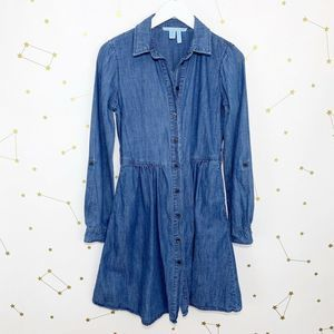 Draper James • Chambray Button Down Shirt Dress
